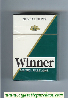 Winner Menthol Full Flavor Special Filter Cigarettes hard box