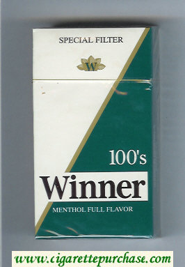 Winner Menthol Full Flavor 100s Special Filter Cigarettes hard box