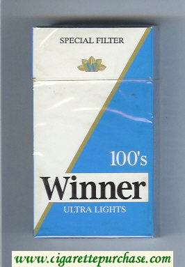 Winner Ultra Lights 100s Special Filter Cigarettes hard box