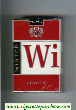 Winter Lights Cigarettes hard box