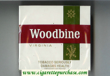 Woodbine Virginia Cigarettes wide flat hard box