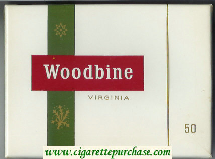 Woodbine Virginia 50 Cigarettes wide flat hard box