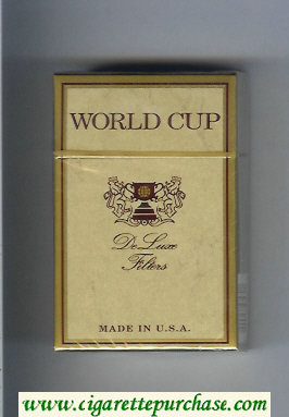 World Cup Cigarettes hard box