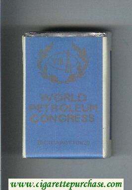 World Petroleum Congress Cigarettes soft box