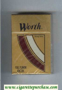 Discount Worth Full Flavor Cigarettes hard box