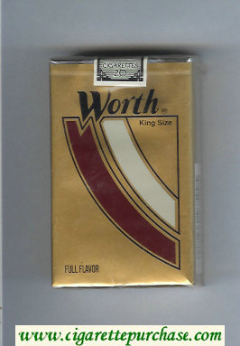 Worth Full Flavor Cigarettes soft box