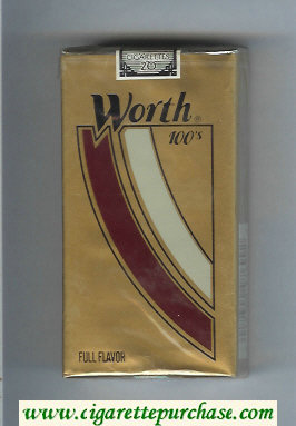 Worth Full Flavor 100s Cigarettes soft box
