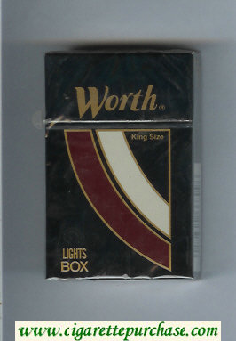 Discount Worth Lights Cigarettes hard box
