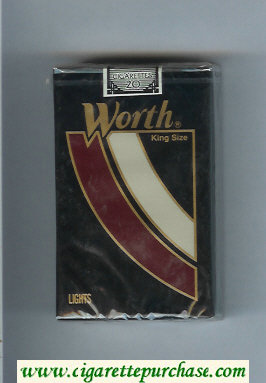 Worth Lights Cigarettes soft box
