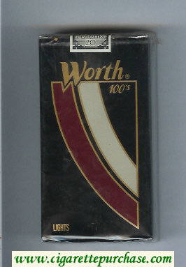Worth Lights 100s Cigarettes soft box