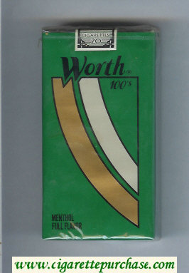 Worth Menthol Full Flavor 100s Cigarettes soft box