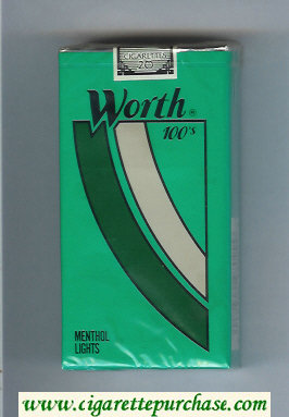 Discount Worth Menthol Lights 100s Cigarettes soft box