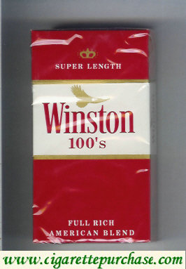Discount Winston 100s Cigarettes Super Length hard box