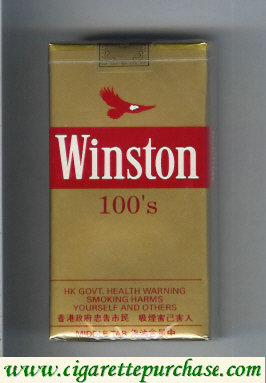 Discount Winston 100s cigarettes gold soft box