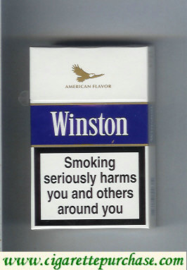 Discount Winston American Flavor Balanced Blue cigarettes hard box