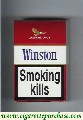 Discount Winston American Flavor Classic Red cigarettes hard box