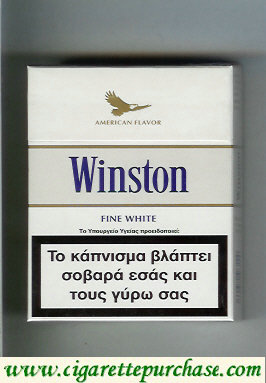 Discount Winston American Flavor Fine White 25s cigarettes hard box