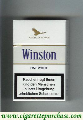 Discount Winston American Flavor Fine White cigarettes hard box