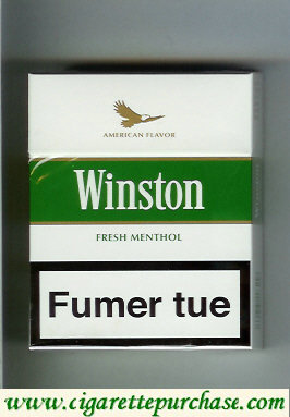 Discount Winston American Flavor Fresh Menthol cigarettes hard box
