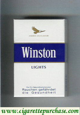 Discount Winston American Flavor Lights cigarettes hard box