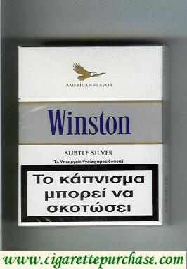 Discount Winston American Flavor Subtle Silver cigarettes hard box
