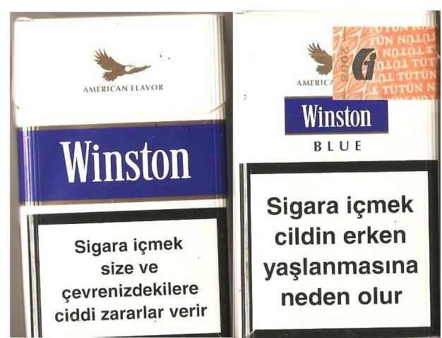 Discount Winston Blue Cigarettes Hard Box