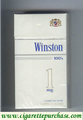 Discount Winston Charcoal Filter 1 mg 100s cigarettes hard box