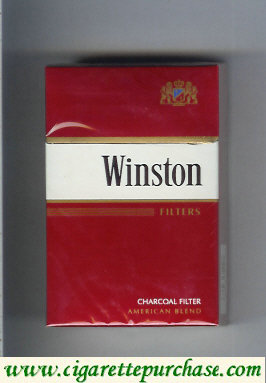 Discount Winston Charcoal Filter Filters cigarettes hard box