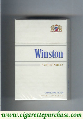 Discount Winston Charcoal Filter Super Mild cigarettes hard box