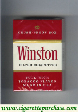 Winston Filter cigarettes Crush Proof box