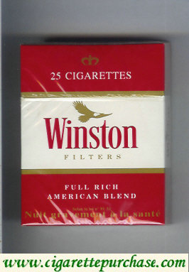 Discount Winston Filters 25 cigarettes hard box