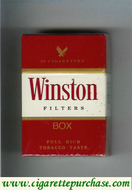 Discount Winston Filters cigarettes hard box