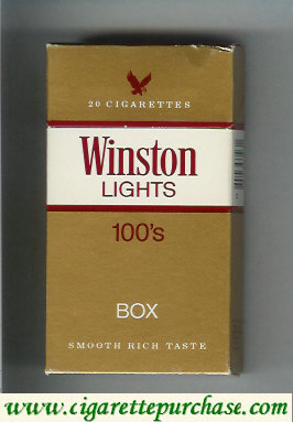 Discount Winston Lights 100s cigarettes hard box