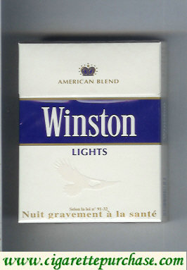 Discount Winston Lights cigarettes American Blend