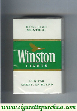 Discount Winston Lights cigarettes King Size Menthol hard box