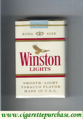 Discount Winston Lights cigarettes White soft box
