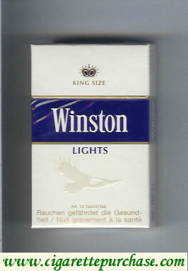 Discount Winston Lights cigarettes hard box