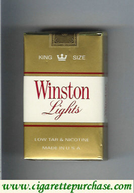 Discount Winston Lights gold and white cigarettes soft box