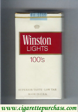 Discount Winston Lights white and red 100s cigarettes soft box