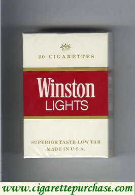 Discount Winston Lights white and red cigarettes hard box