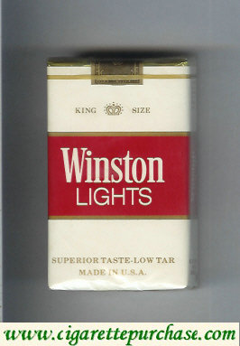 Discount Winston Lights white and red cigarettes soft box