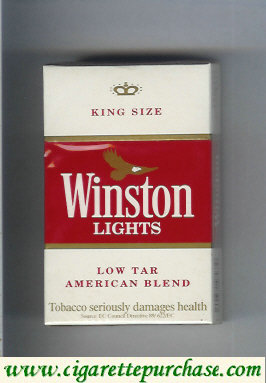 Discount Winston Lights white and red hard box cigarettes
