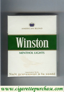Discount Winston Menthol Lights cigarettes hard box