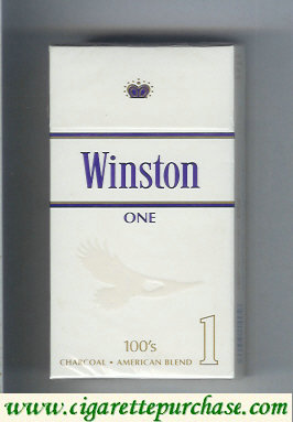 Winston One 1 100s cigarettes hard box