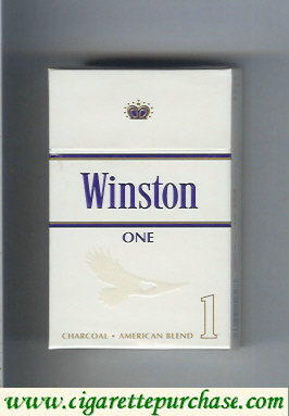 Discount Winston One 1 cigarettes hard box