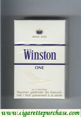 Winston One cigarettes hard box