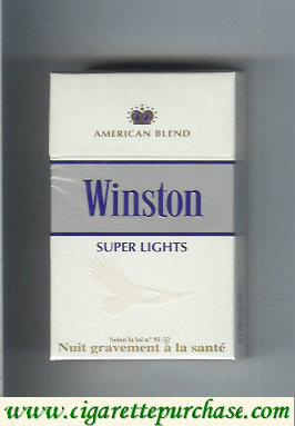 Winston Super Lights cigarettes American Blend