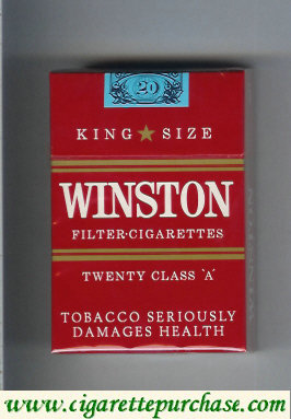 Discount Winston Twenty red cigarettes hard box