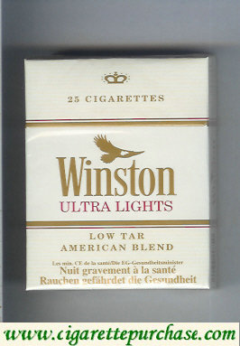 Discount Winston Ultra Lights 25 cigarettes hard box
