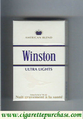 Discount Winston Ultra Lights cigarettes American Blend